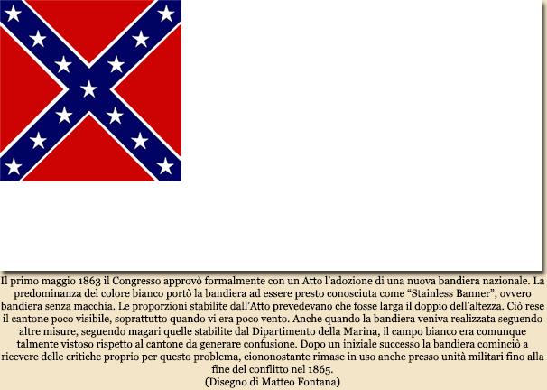 Le bandiere nazionali degli stati confederati d 39 america - Bandiere bianche a colori ...