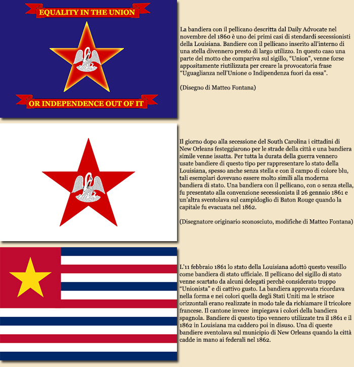 Le bandiere degli stati secessionisti alabama arkansas - Bandiere bianche a colori ...